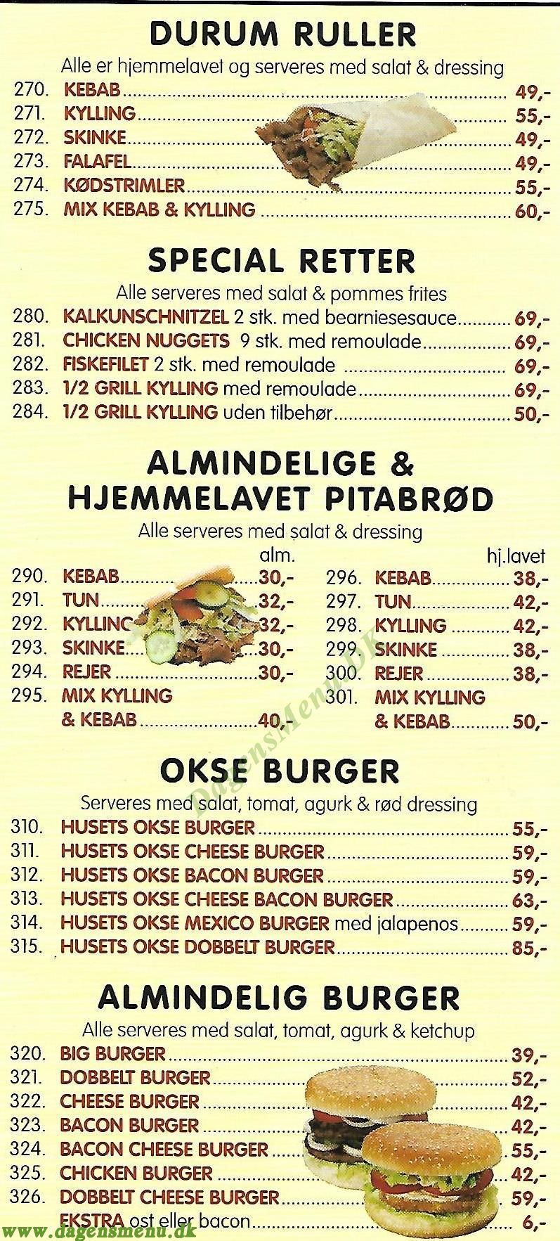 Hanedan Restaurant - Menukort