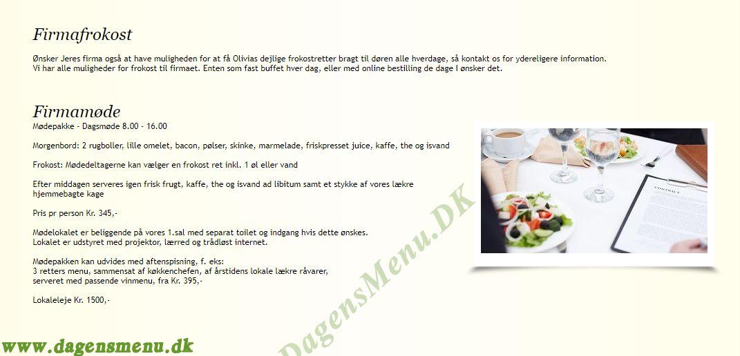 Olivia - Cafe og Brasserie - Menukort