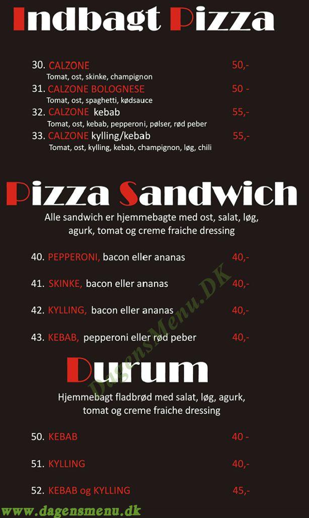 Nova Pizza & Grill - Menukort