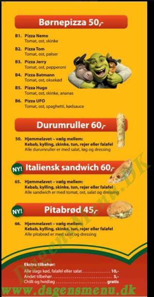 Pizza Hus - Menukort