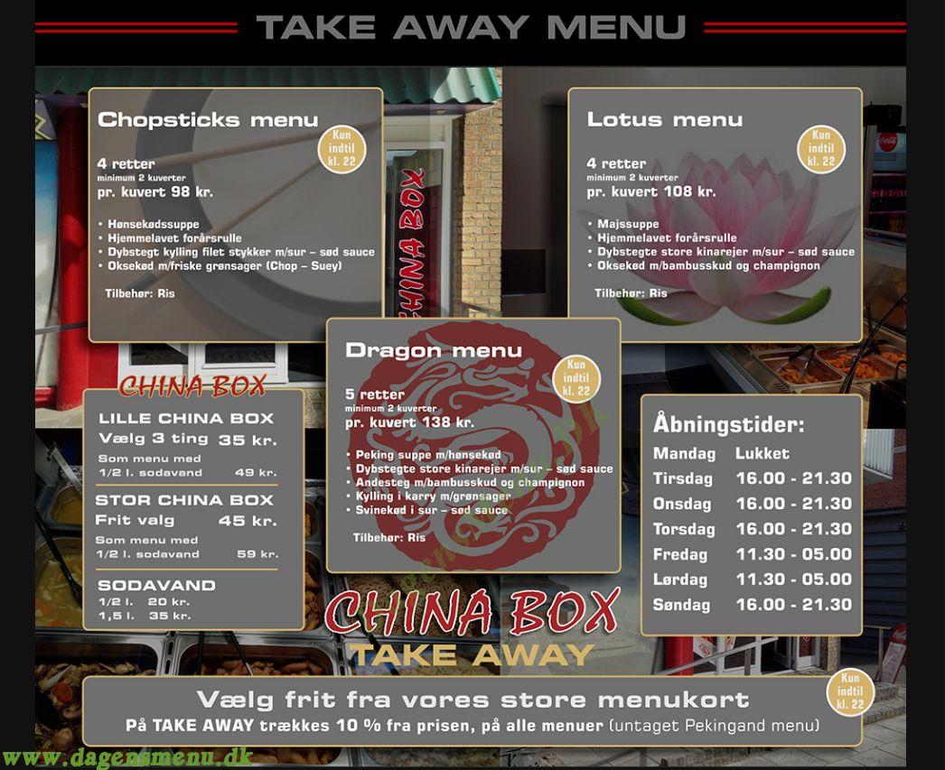 China Restaurant - Menukort