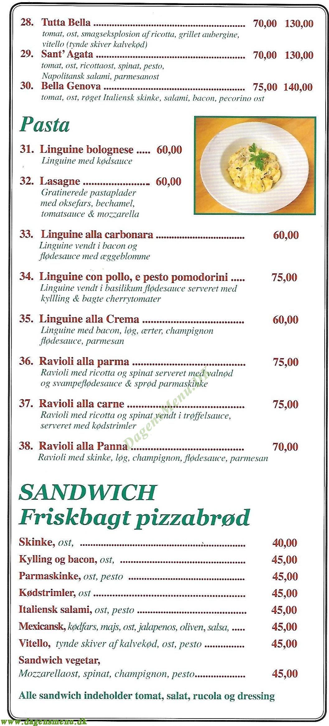 Gastronomia Napolitana - Menukort