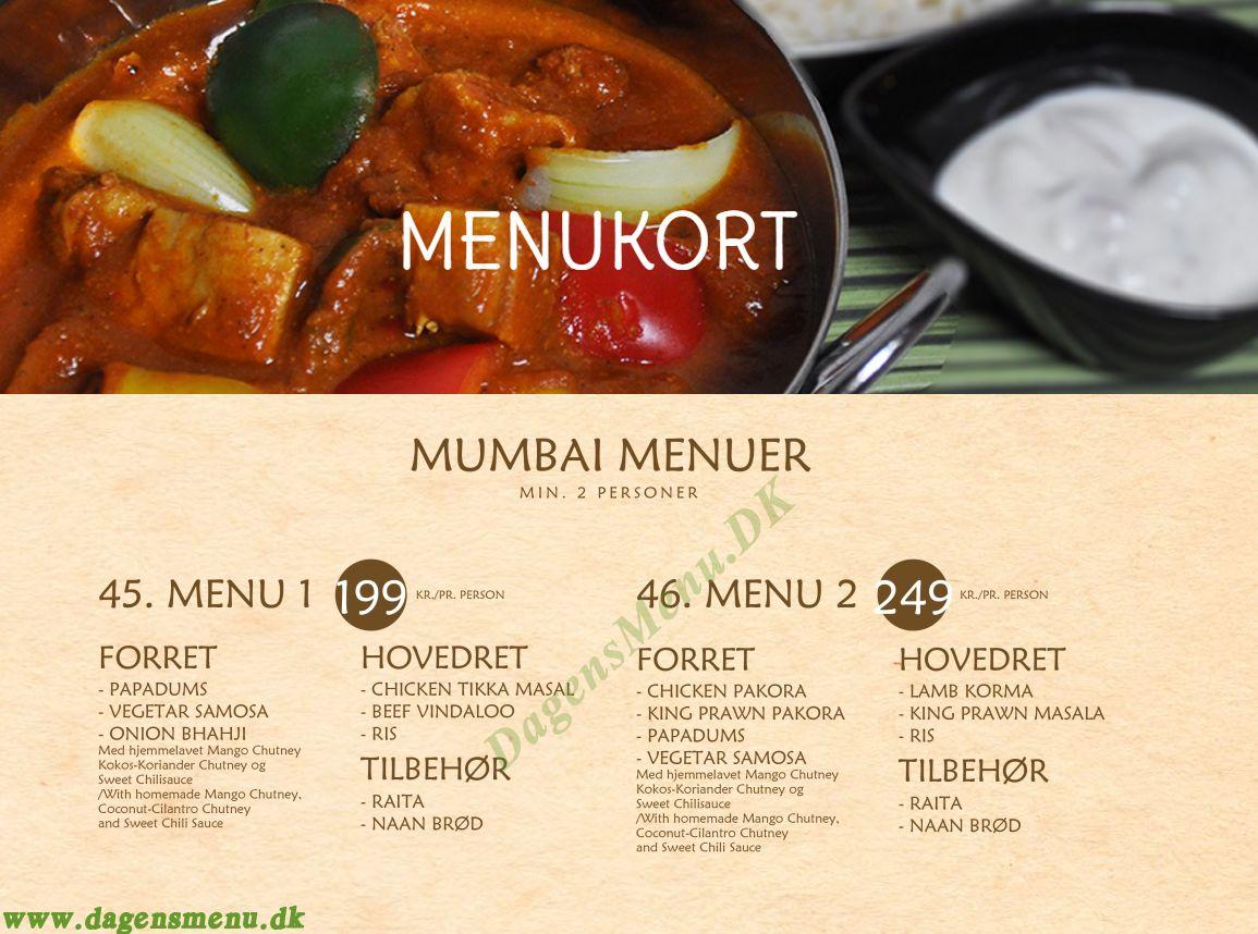 Mumbai - Menukort