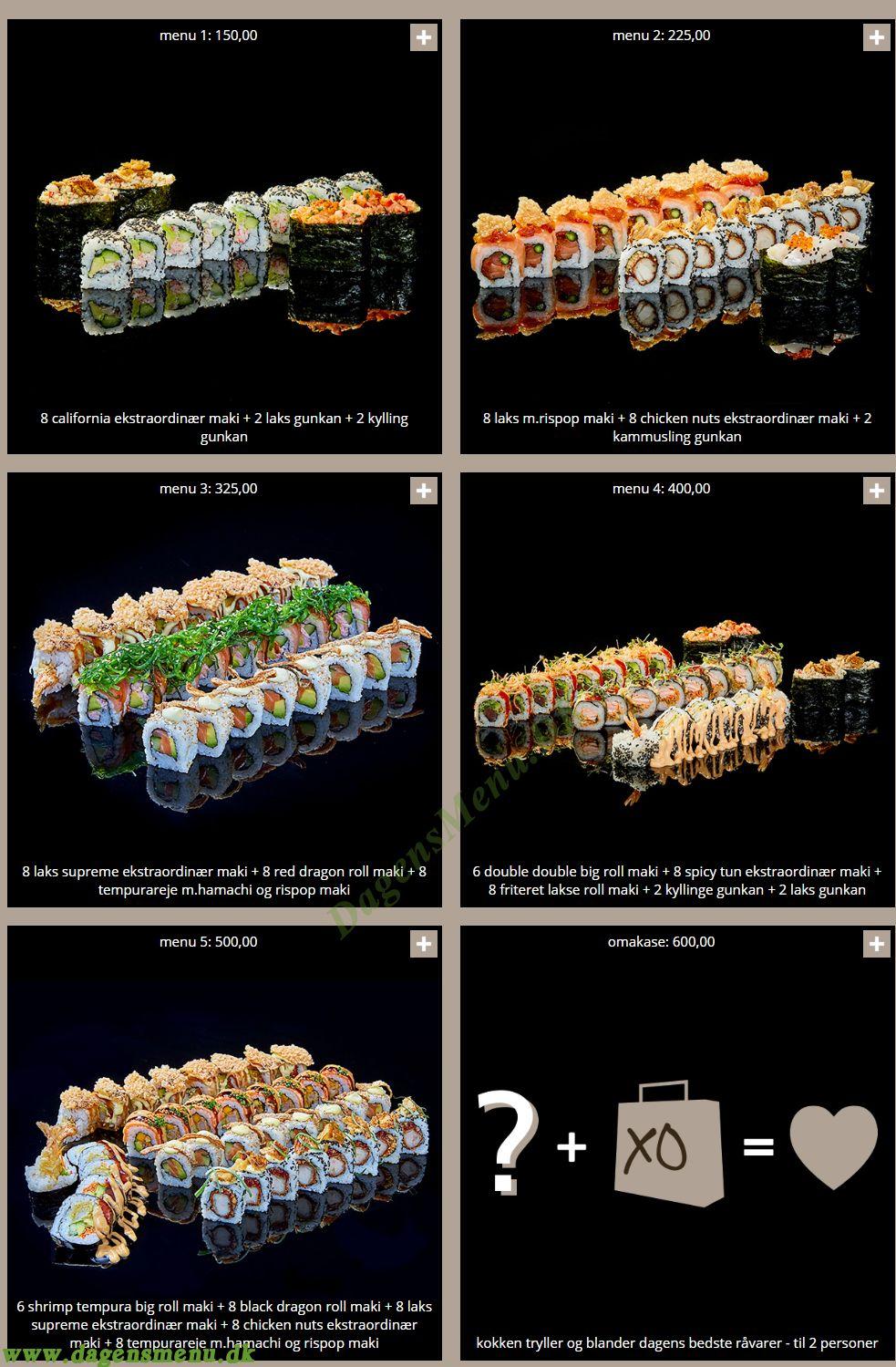 SushiSushi - take-away Menukort