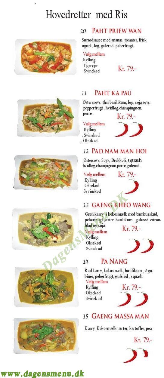 Thai Food Home & Sushi - Menukort