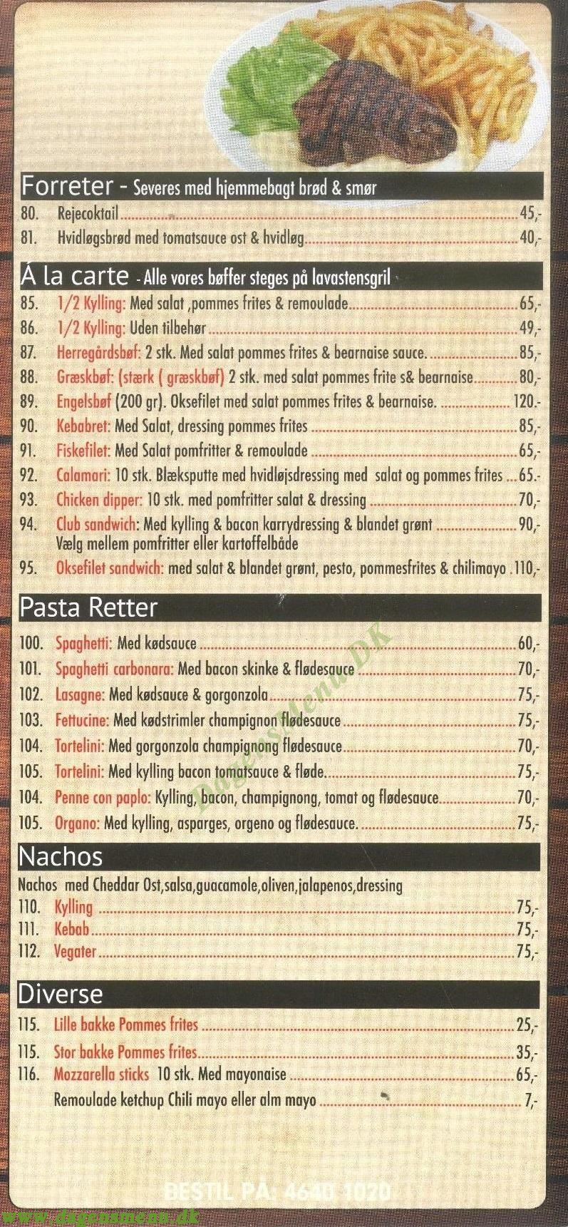 Marco Polo Pizza - Menukort