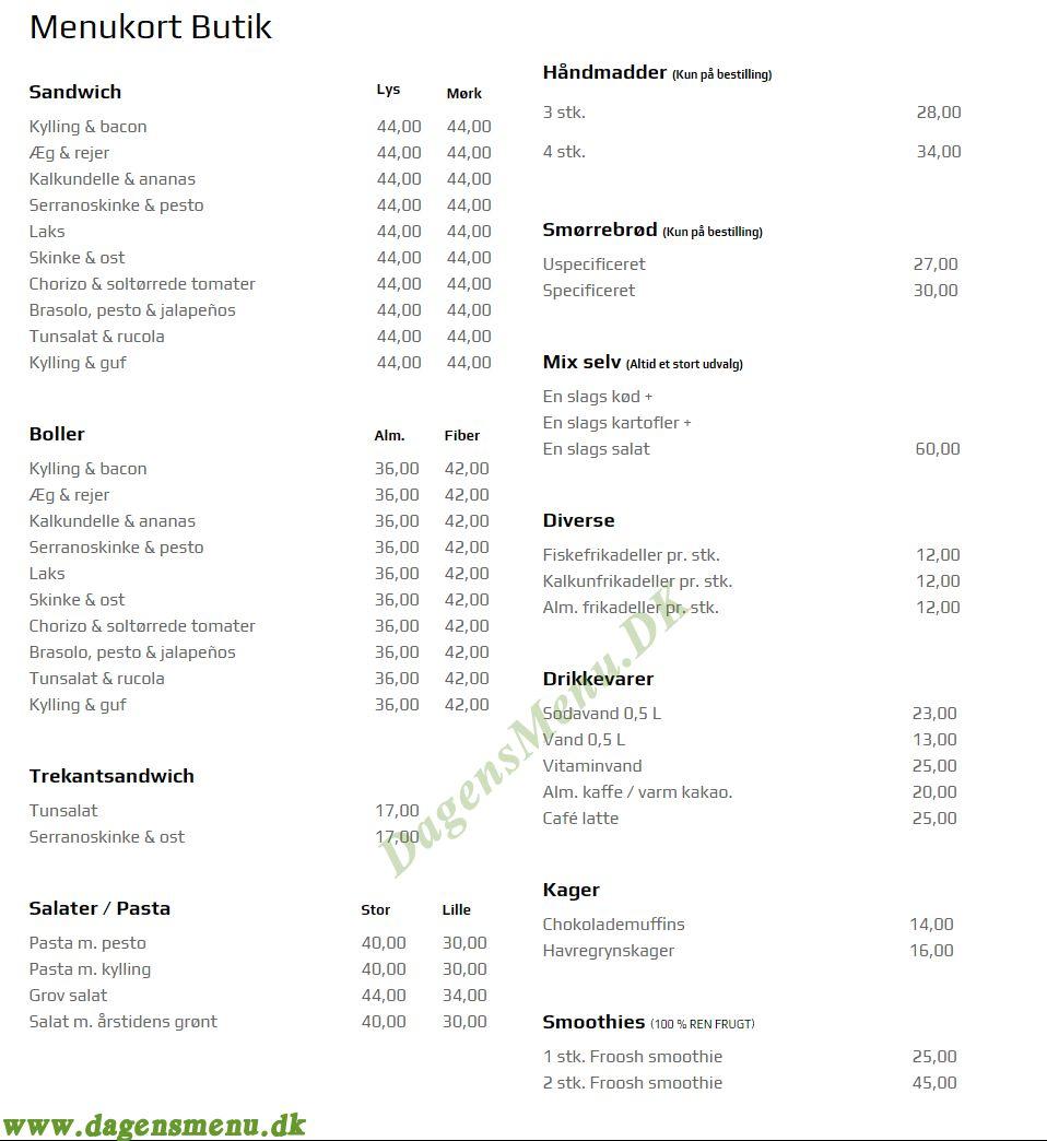 Anne's Frokost & Sandwich - Menukort