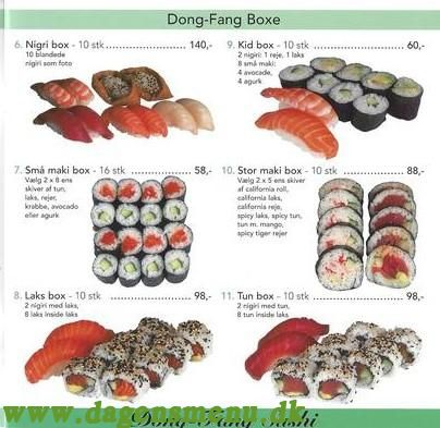 Dong Fang - Menukort