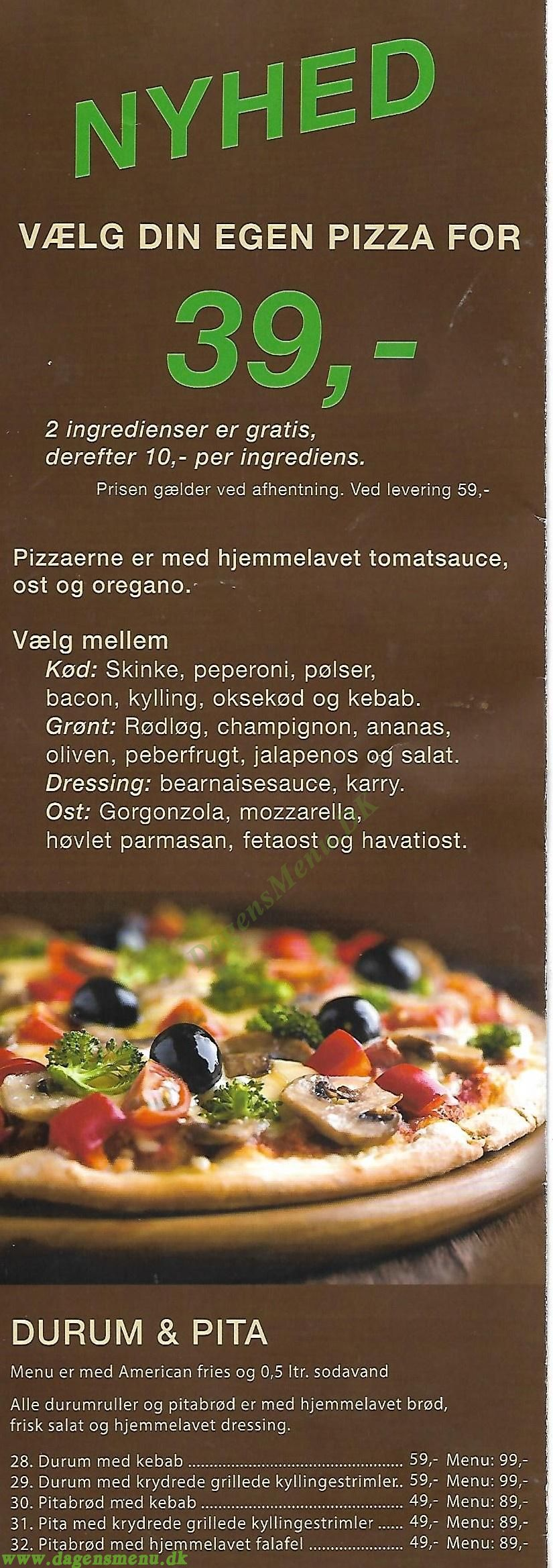 Herregård Burger & Pizza - Menukort