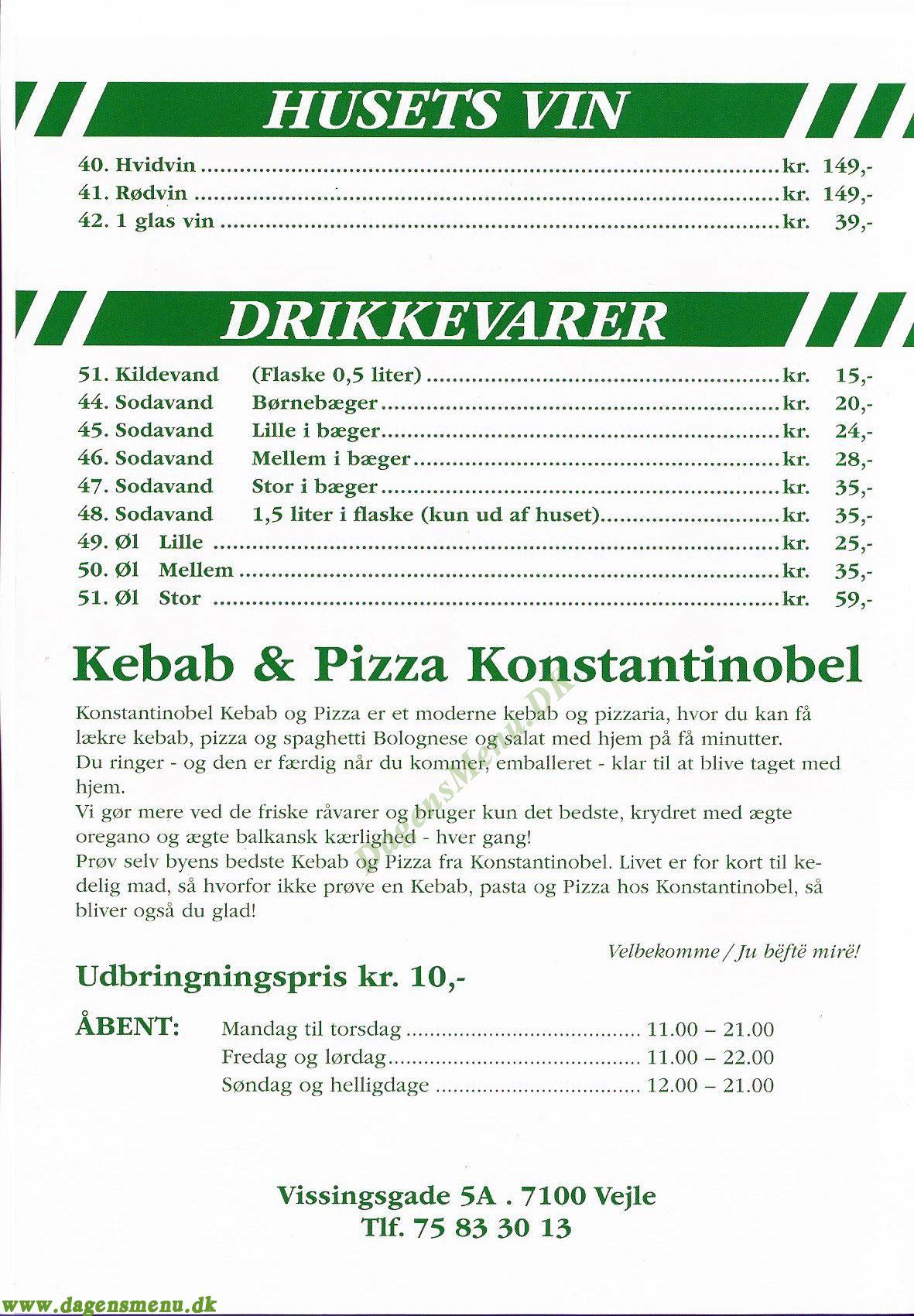 konstantinopel pizza vejle
