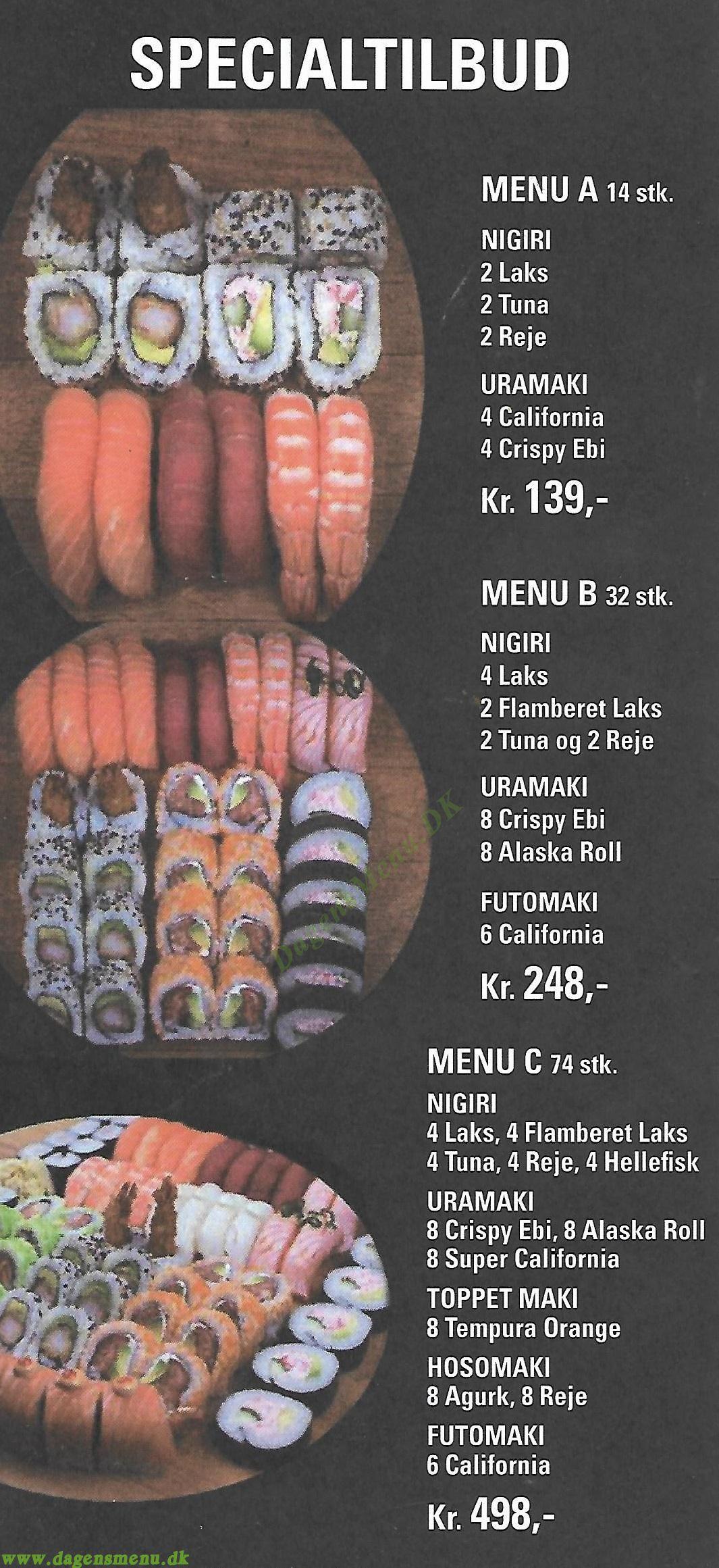 Nara Sushi - Menukort