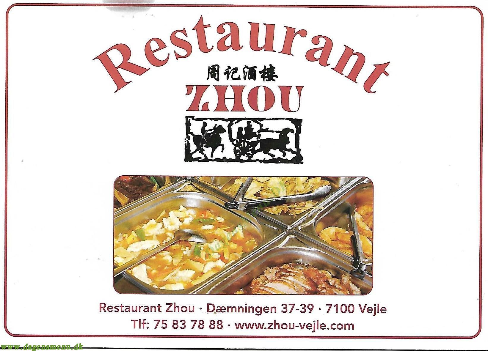 Restaurant Zhou - Menukort