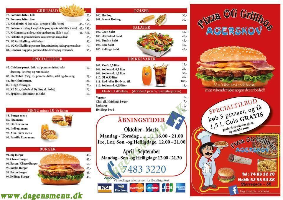 agerskov pizza og grillhus menu