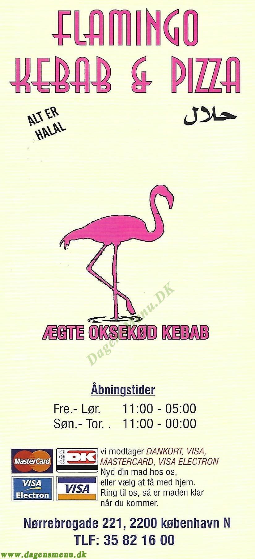 Flamingo Kebab og Pizzaria - Menukort
