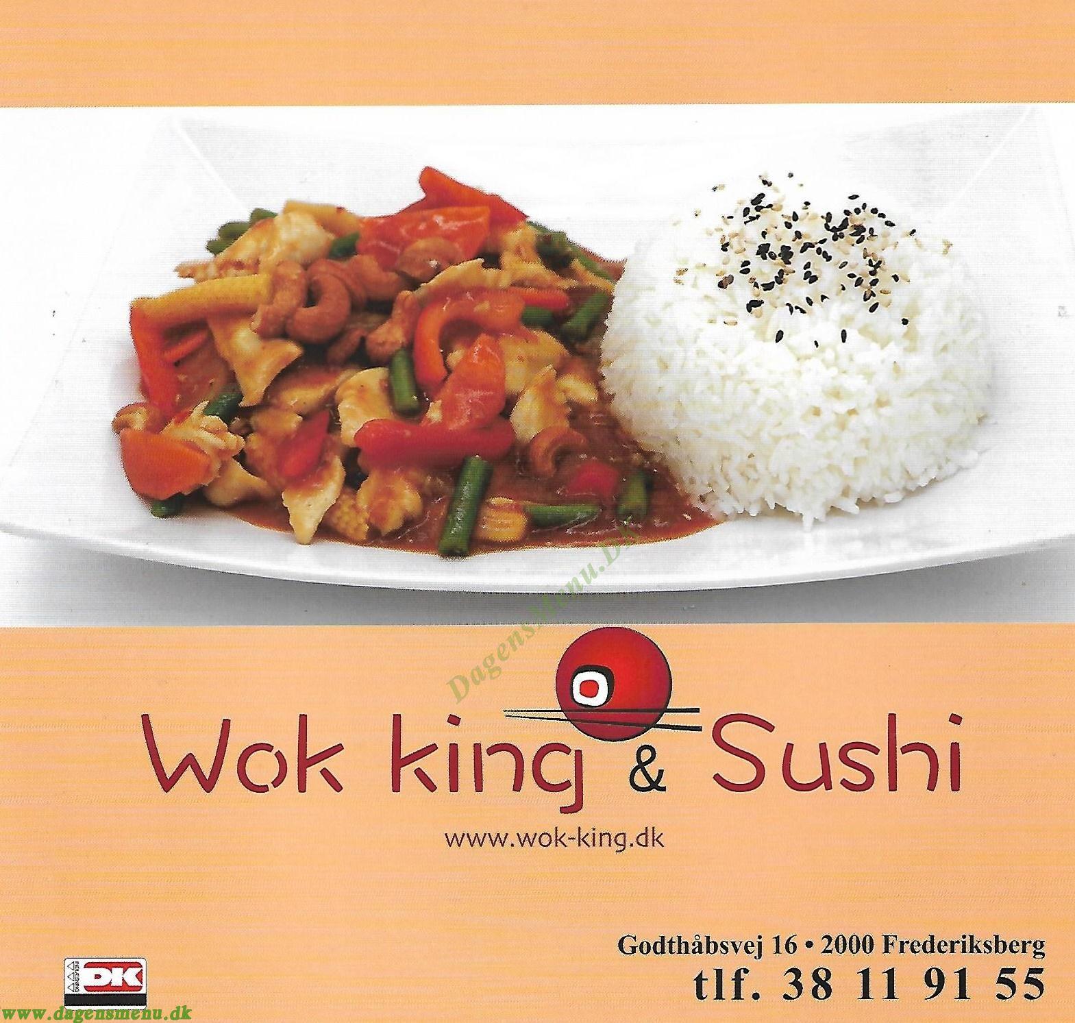 Wok King & Sushi - Menukort