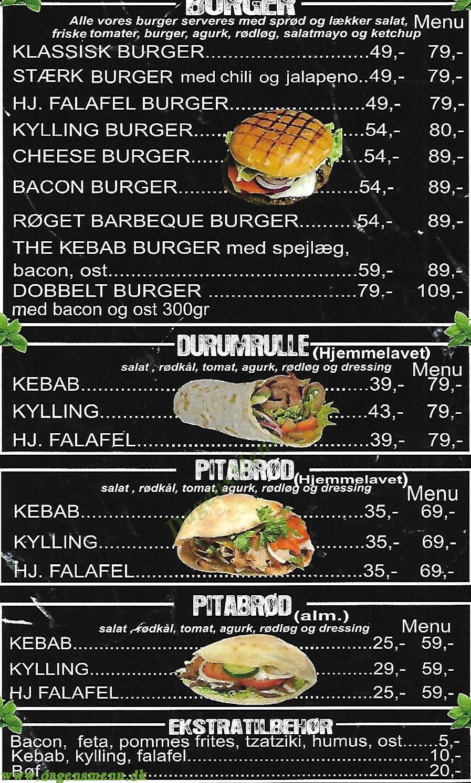 The Kebab - Menukort