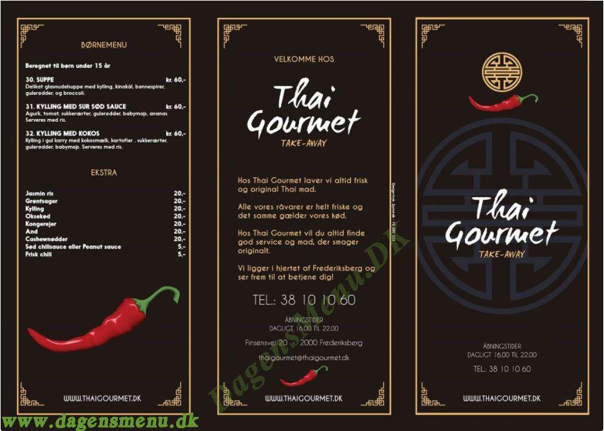Thai Goumet - Menukort