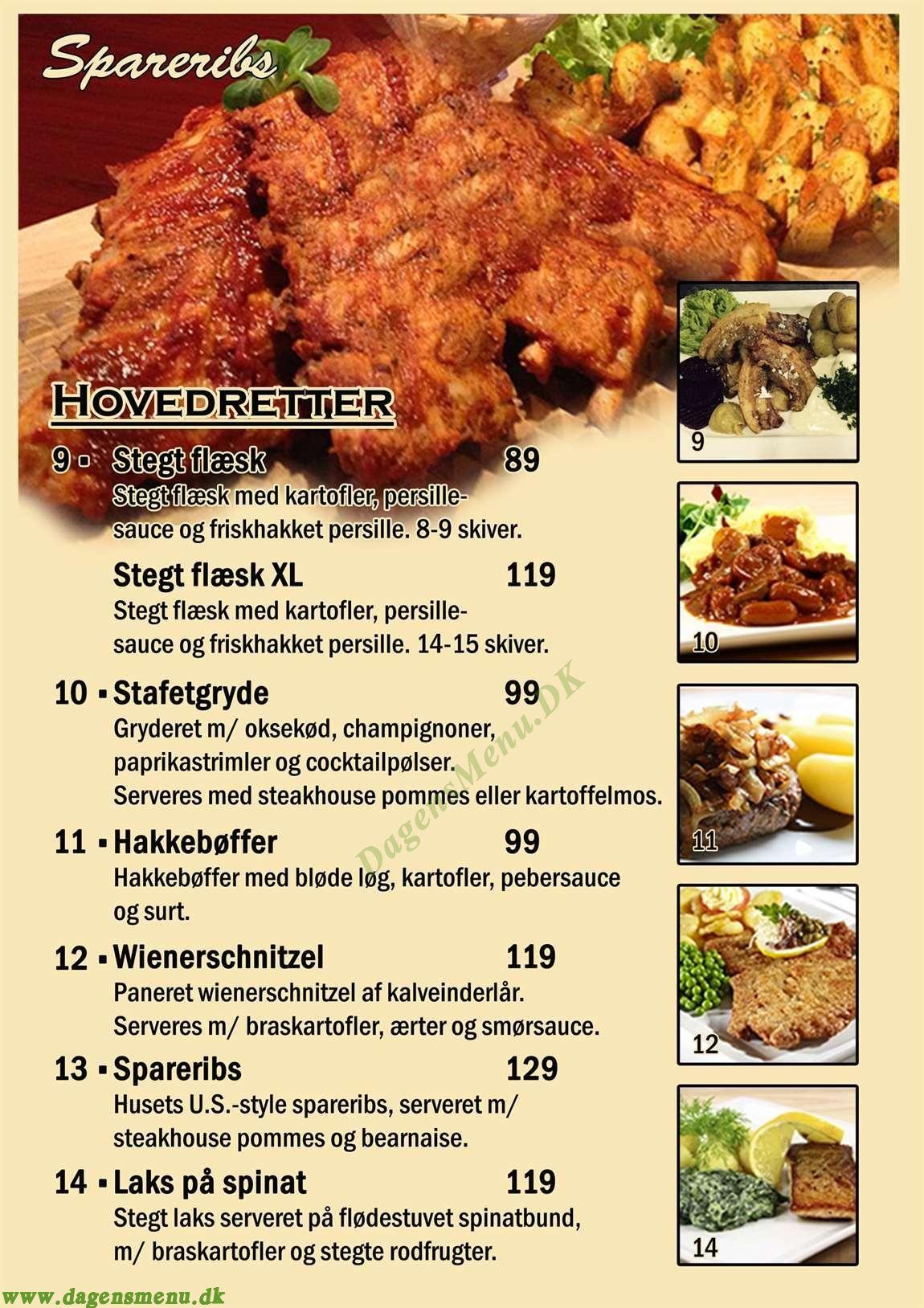 Café Stafetten - Menukort