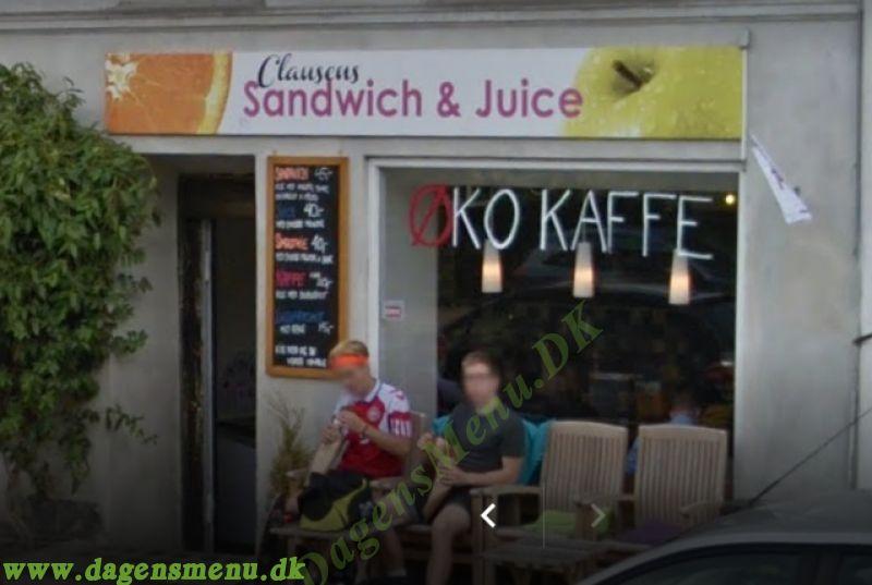 Clausens sandwich og juice