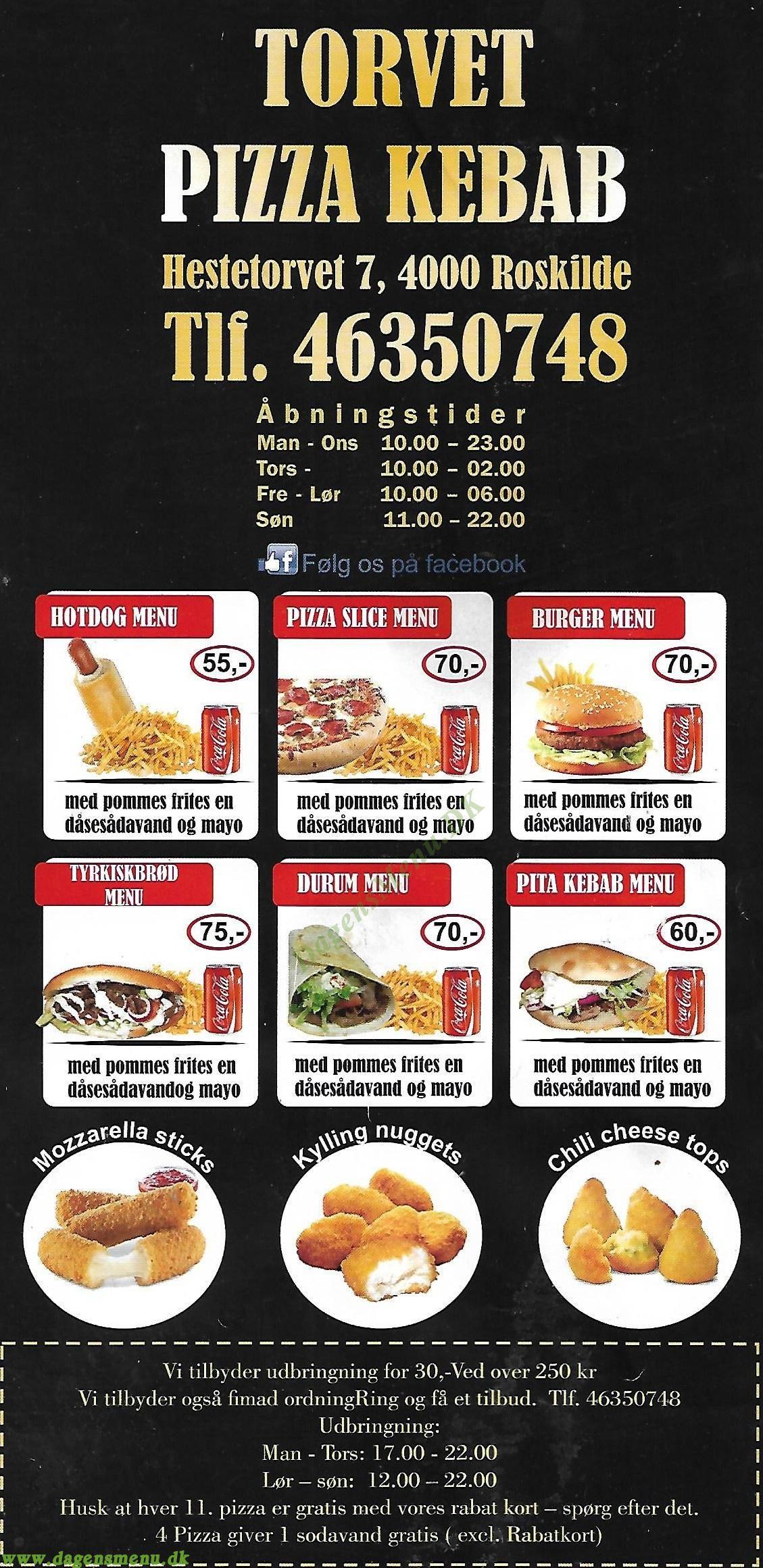 Torvet's Grill & Kebab - Menukort