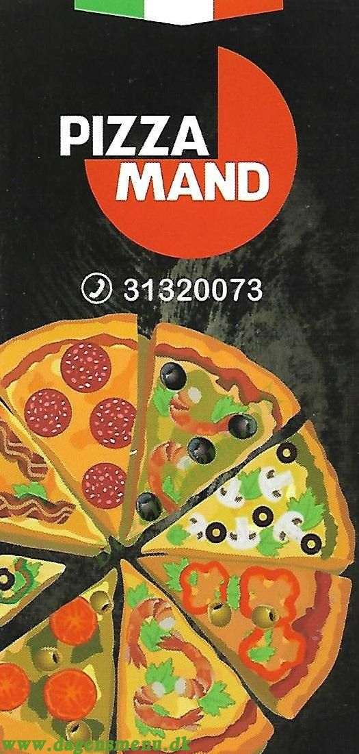 Pizza Mand - Menukort