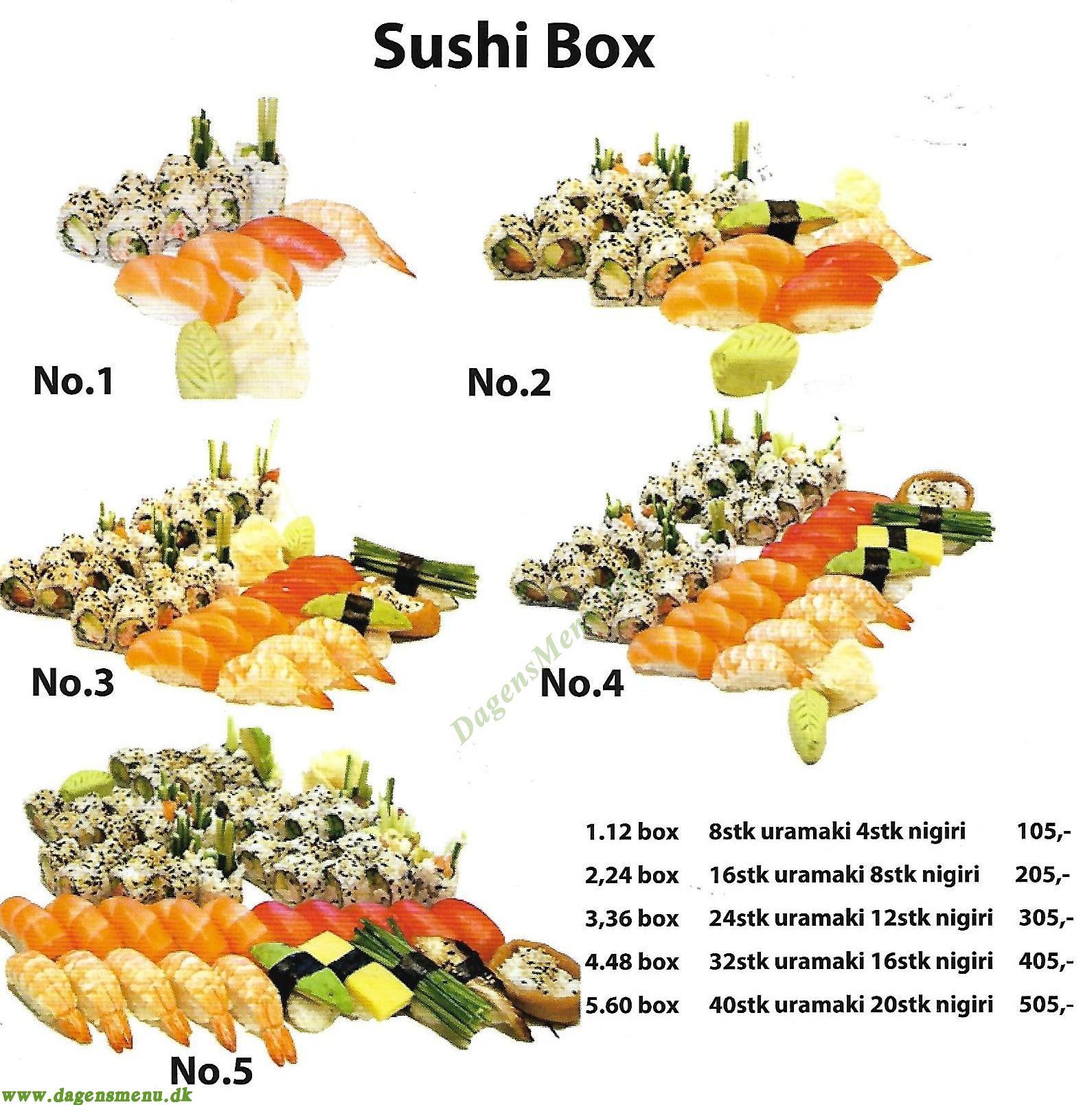 Deng Sushi & Thai - Menukort
