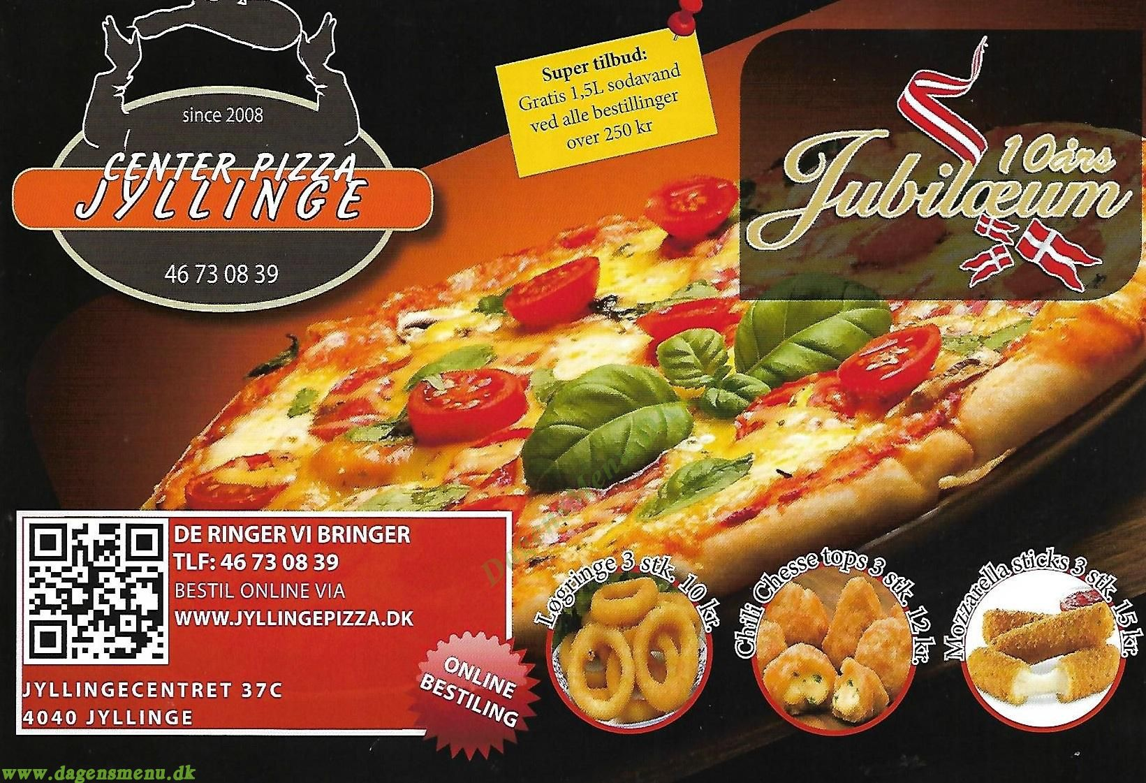 Jyllinge Center Pizza - Menukort