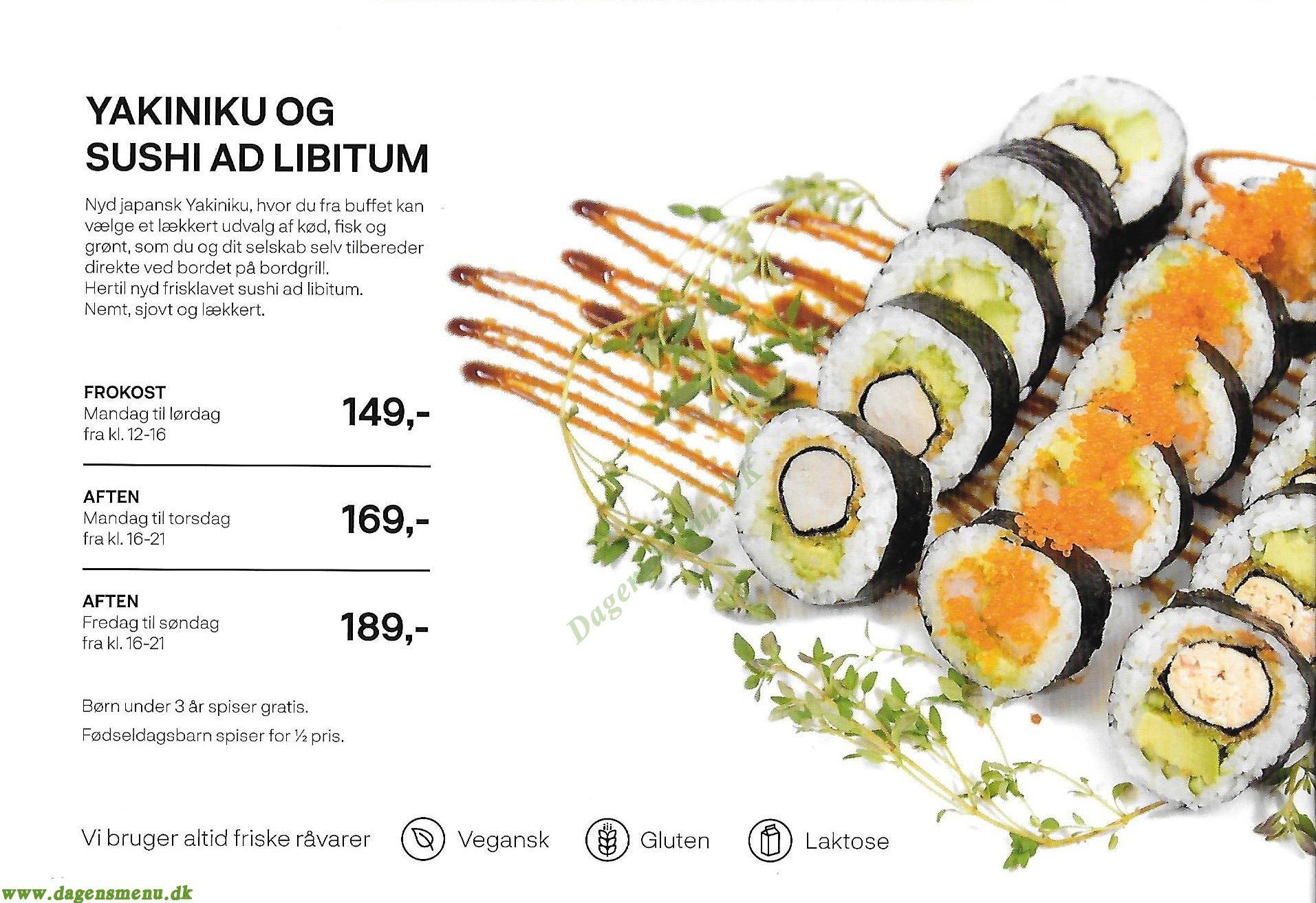 Yakiniku Sushi - Menukort