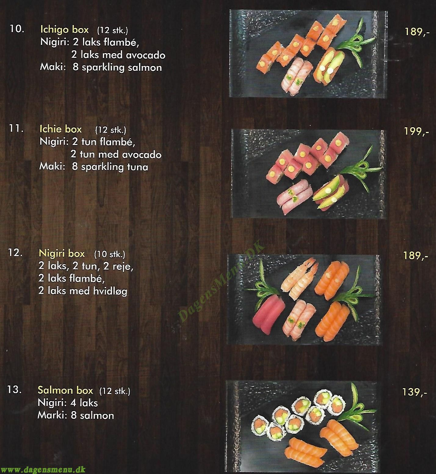 Værløse Sushi - Menukort