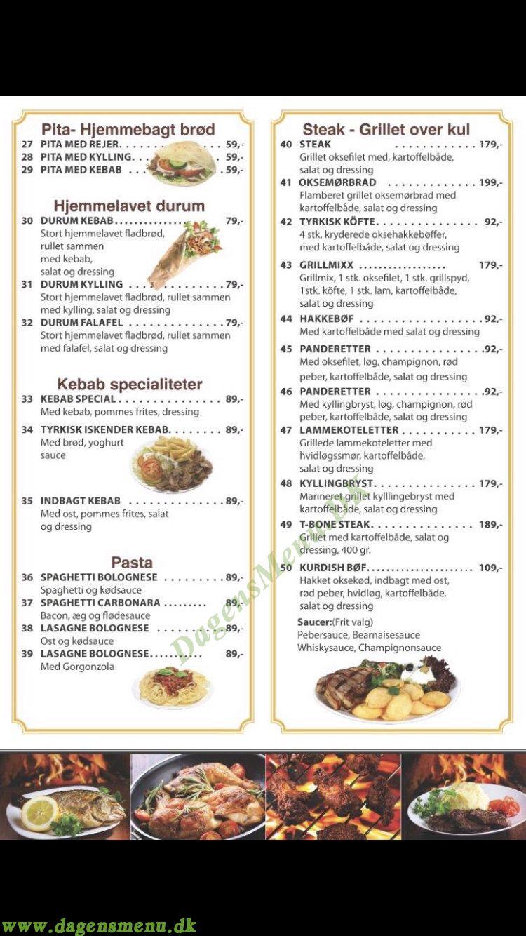 Cafe Kysten - Menukort