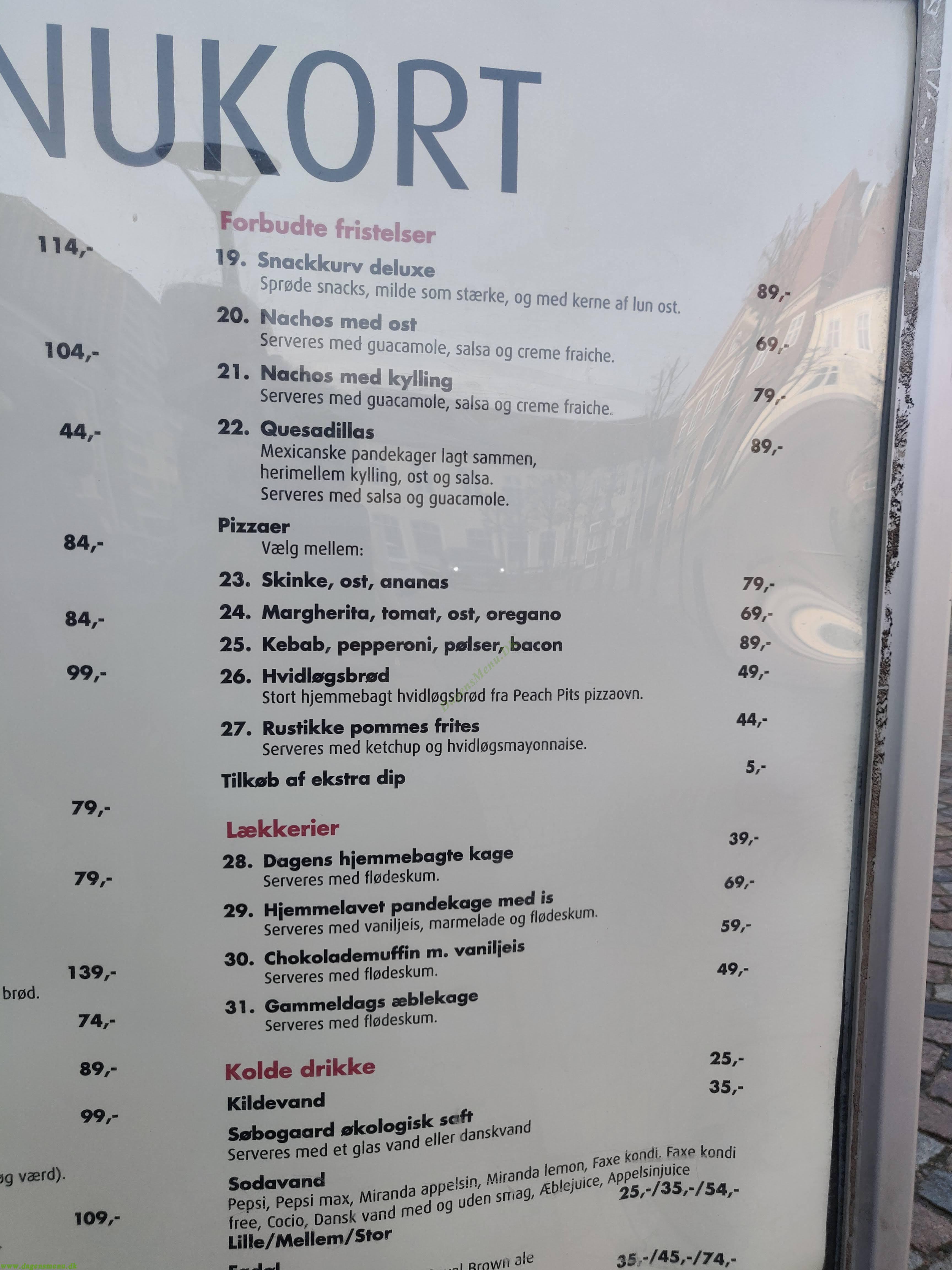 Café Victoria - Menukort