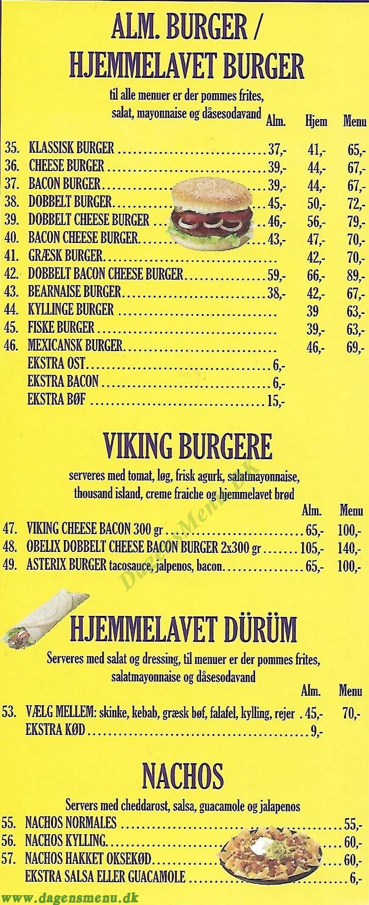 Brøndby Grill House - Menukort