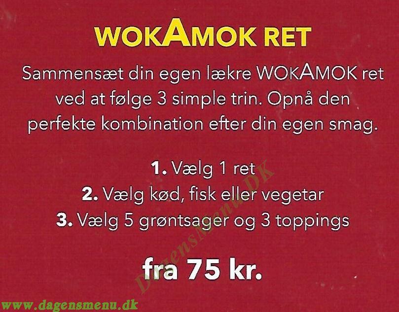 WokAmok - Menukort