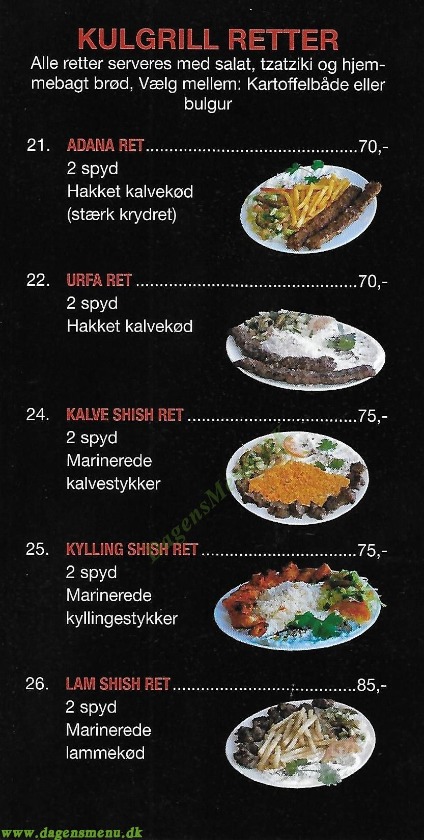 Istanbul Grill - Menukort