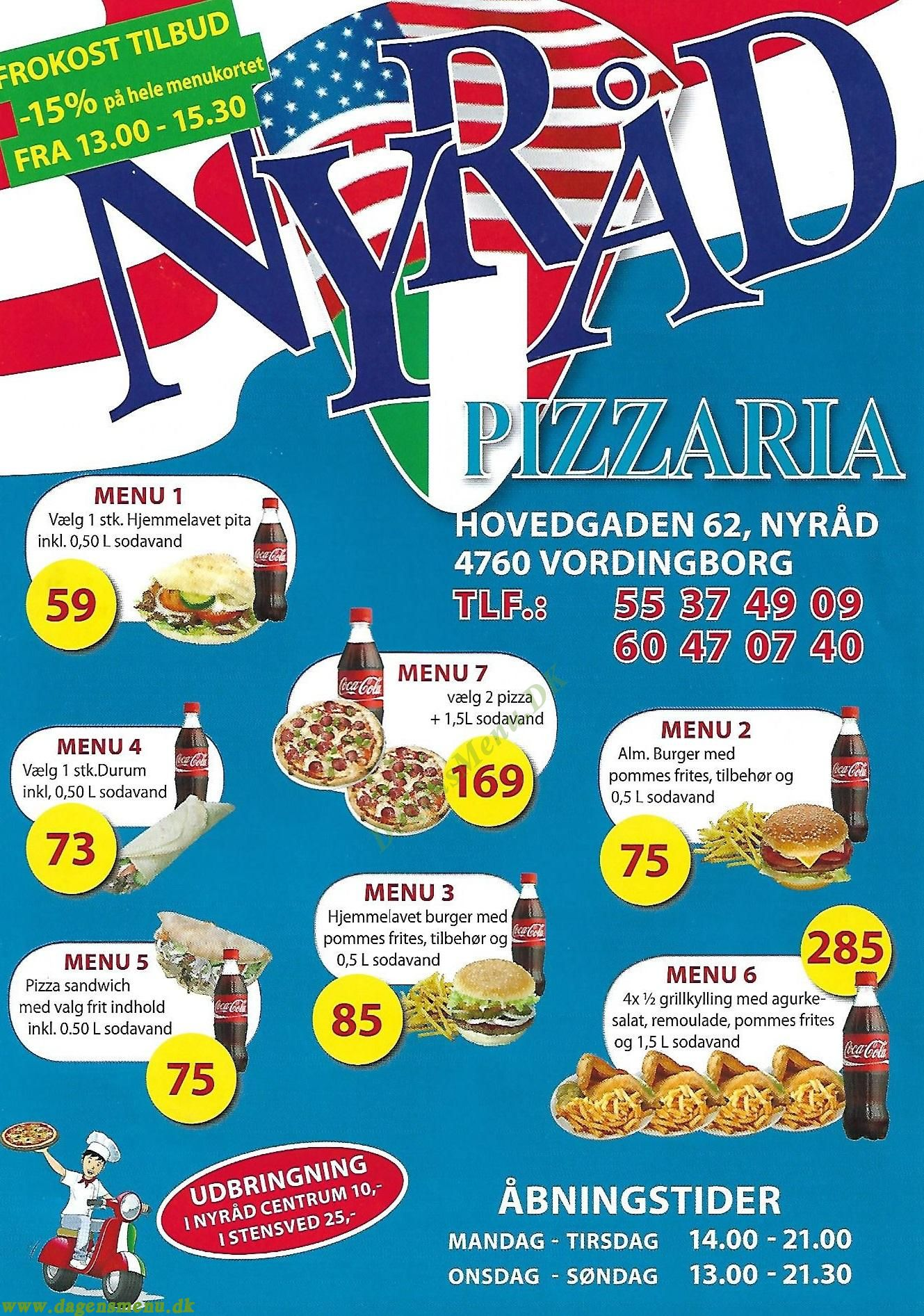 Nyråd Pizzaria - Menukort