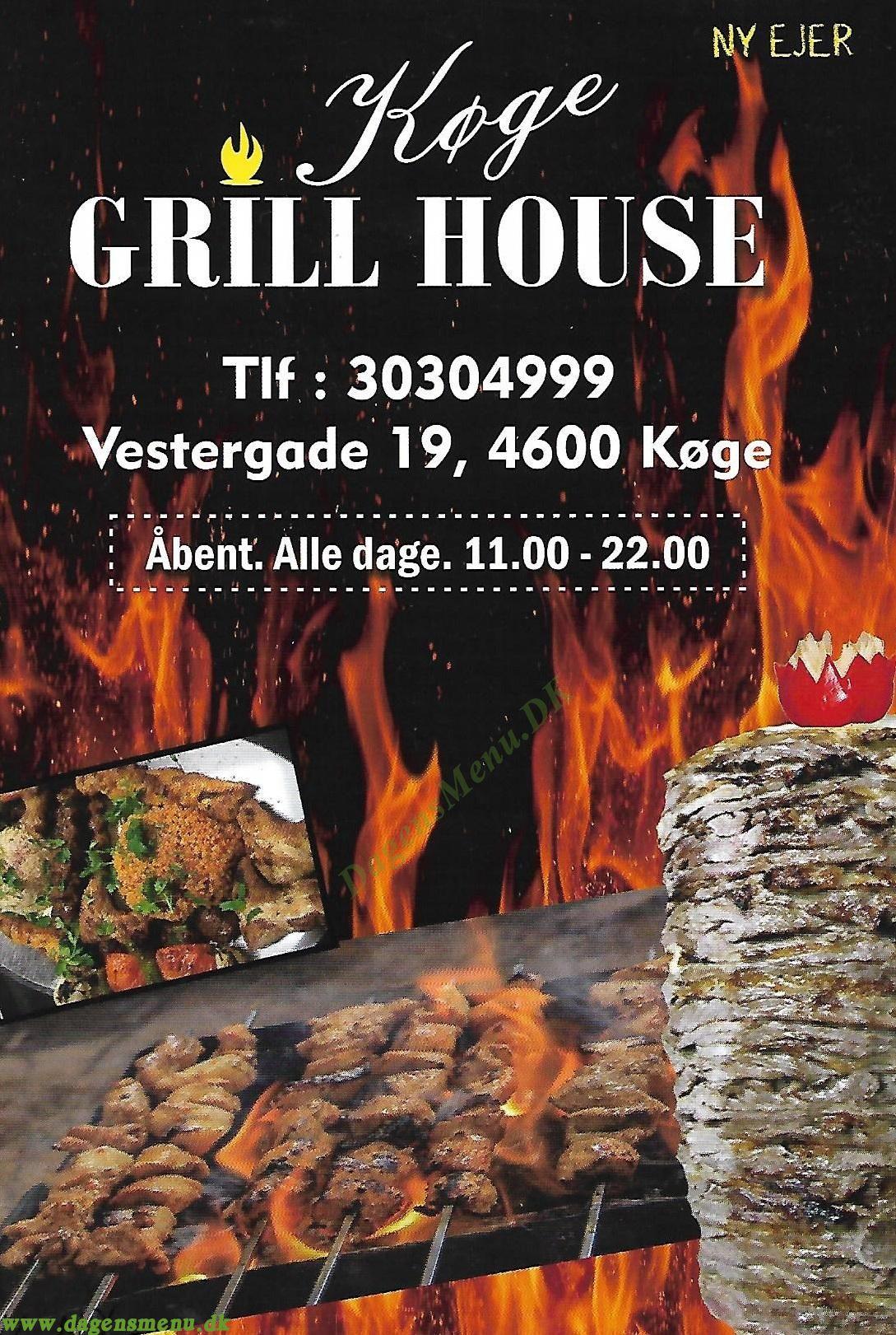 Køge Grill house - Menukort