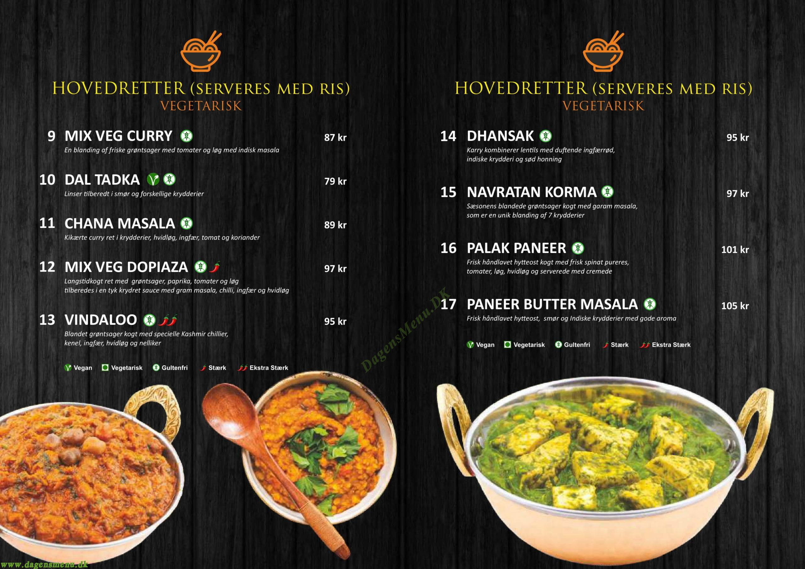Amaravati Indian Street Food - Indian Restaurant / Takeaway - Menukort