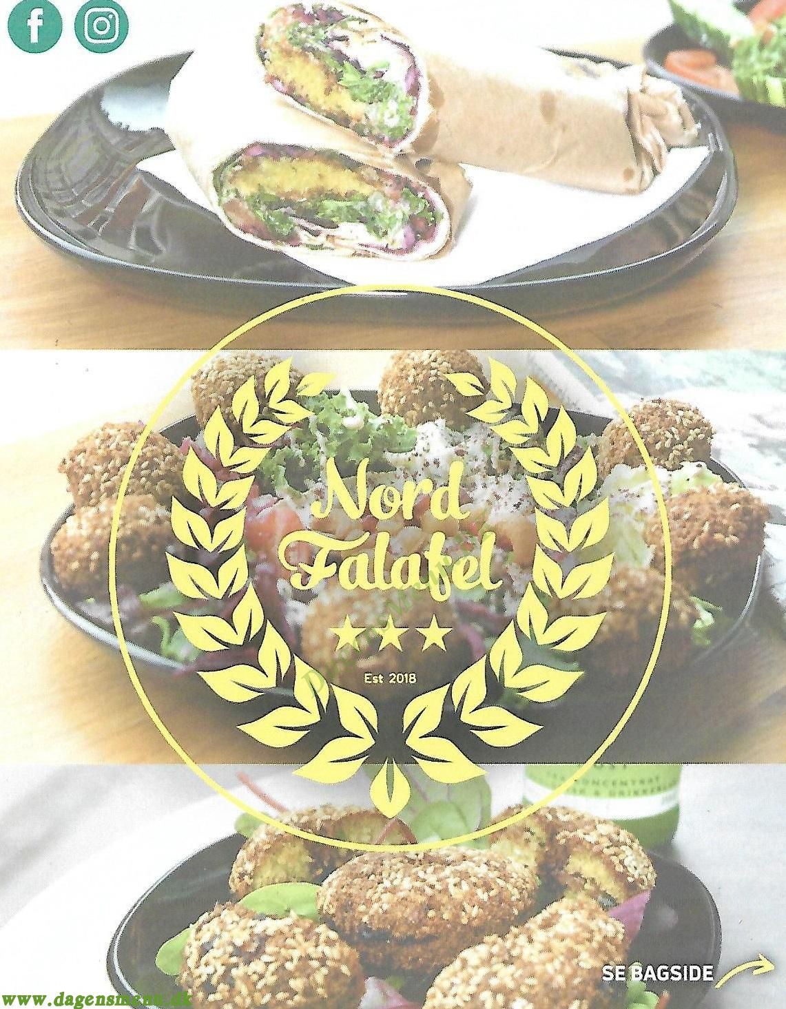 Nord Falafel - Menukort