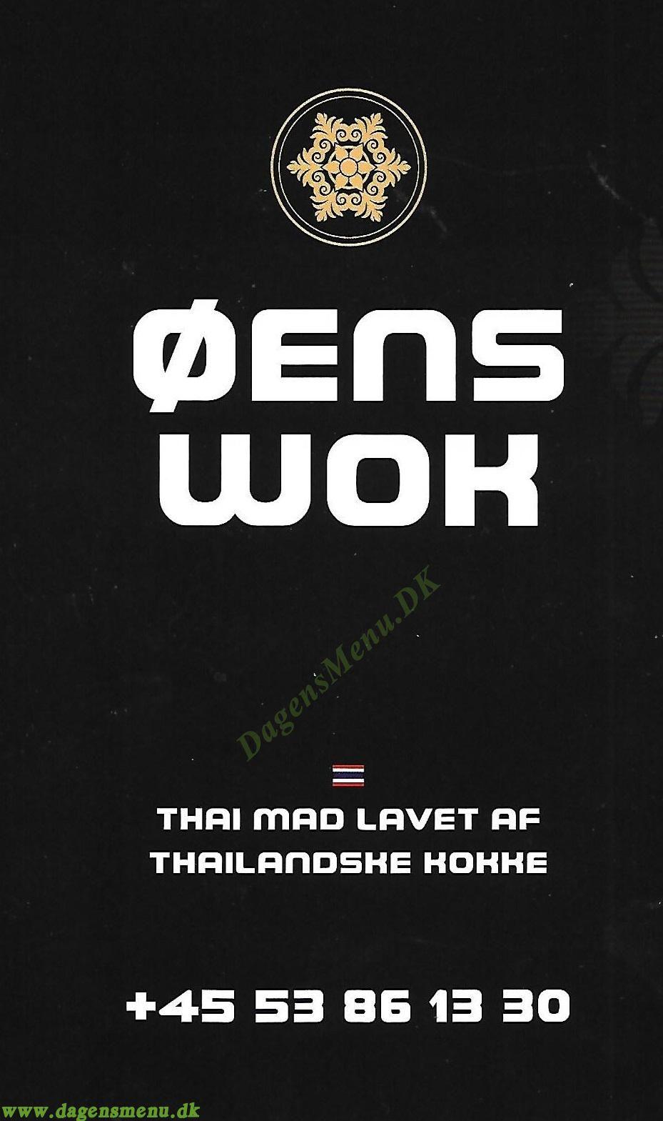 Øens wok thaimad - Menukort