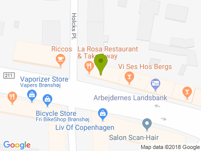 La Rosa Indisk Restaurant - Kort