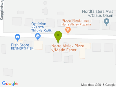 Nørre Alslev Pizzeria - Kort