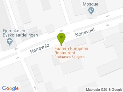 Restaurant Sarajevo - Kort