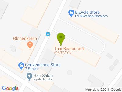 Ayuttaya Thai Restaurant - Kort