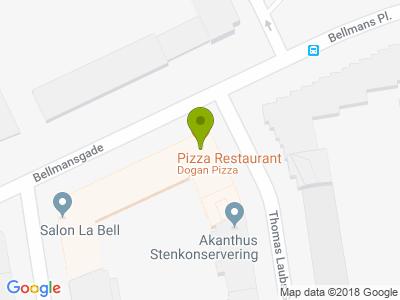 Dogan Pizza Østerbro - Kort