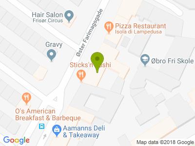 Sticks n Sushi Øster Farimagsgade - Kort