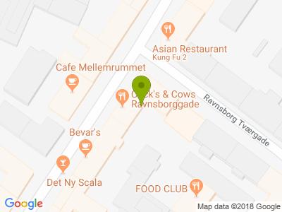 Cock's & Cows Ravnsborggade - Kort