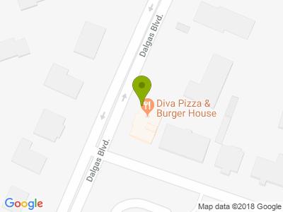 Diva Pizza & Bruger house - Kort