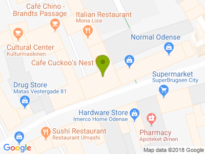 Café Cuckoo's Nest - Kort
