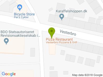 Vesterbro's Pizza & Grill - Kort