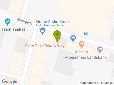 Pinto Thai Take Away - Kort